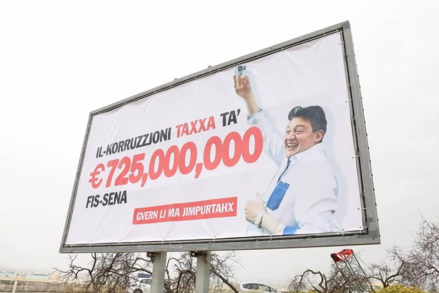 Nationalist Party Erects Workers' Day Billboard And It's